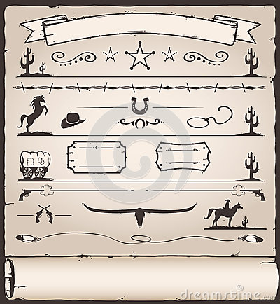 Free Design Elements Wild West Stock Photography - 27673902