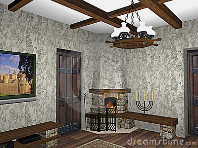 Design of fireplace room
