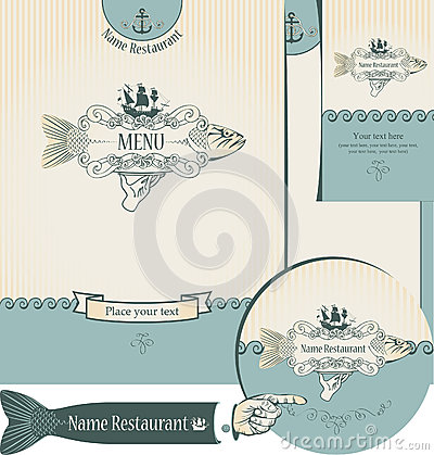 Design of the fish restaurants