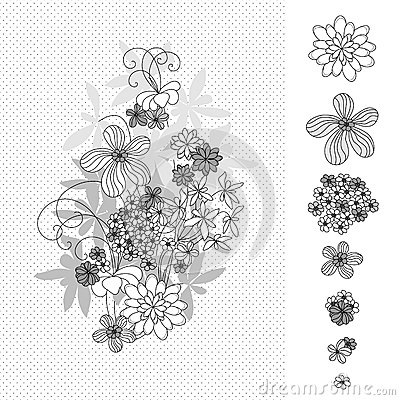 Design with flowers