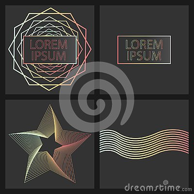 Design with a gradient on a dark background for banners, business cards, etc. Stock Photo