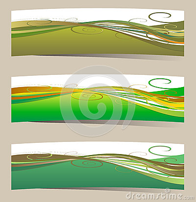 Design graphic flora banners