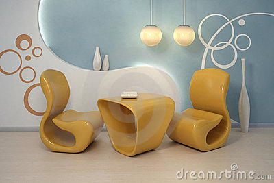 Design interior. Modern armchairs