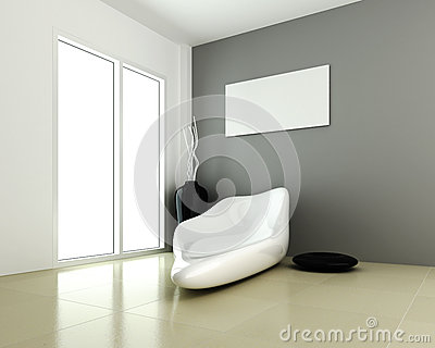 Design of interior modern room