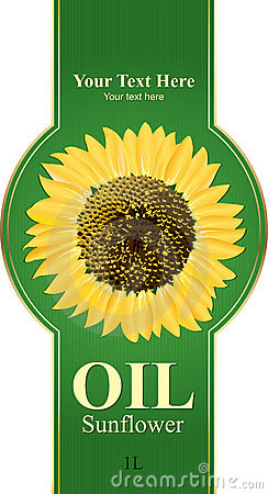 Design labels sunflower oil