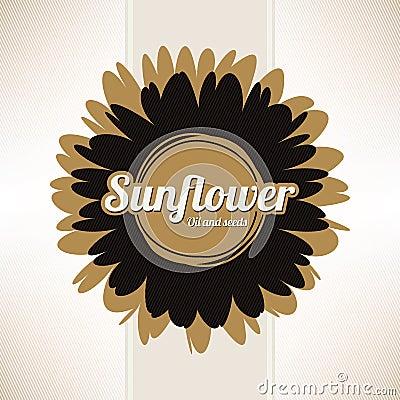 Design labels sunflower oil