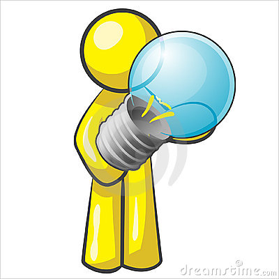Design Mascot Lightbulb