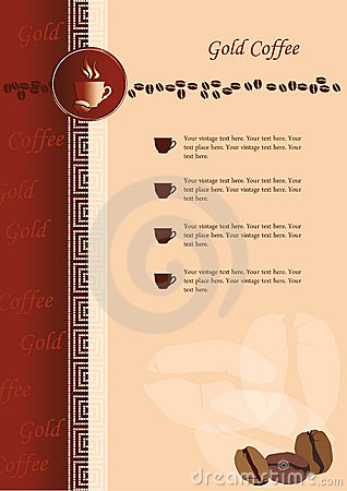 Design of menu for coffee shop and restaurant