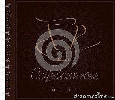 Design menu. Concept for coffeehouse