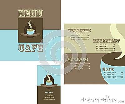 Design of menu and logo for restaurant