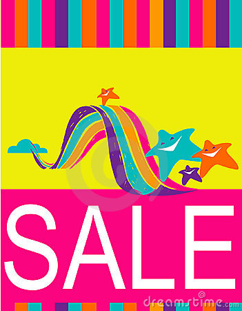 Free Design Of Poster / Flyer For Shopping Sale Royalty Free Stock Photography - 5684307