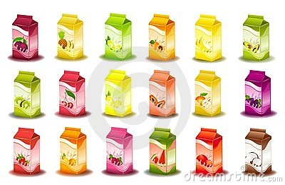 Design of packing milky products