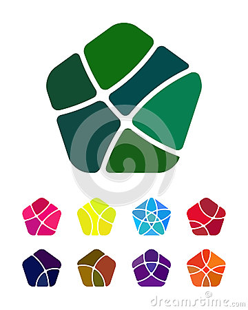 Design pentagonal vector logo element