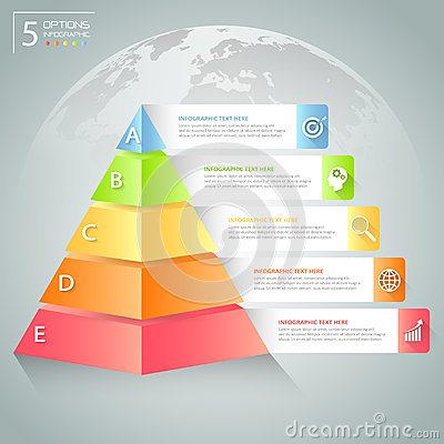 Free Design Pyramid Infographic Template. Business Concept Infographic Stock Photos - 75113823
