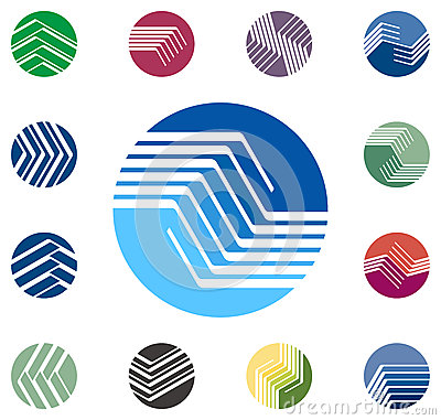 Design round vector logo template