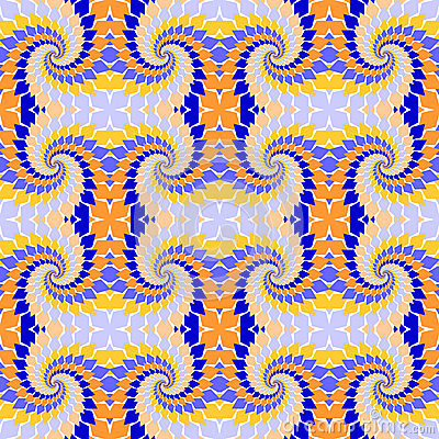 Design seamless colorful abstract pattern. Twirl elements twisti
