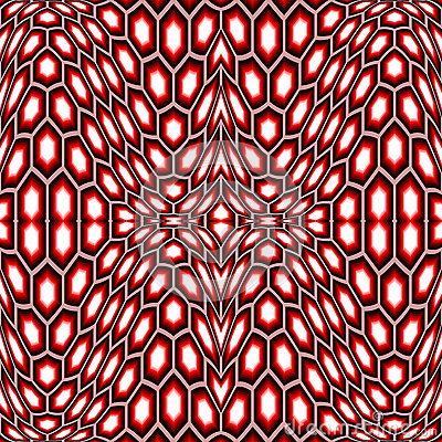 Design seamless distorted hexagon pattern