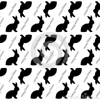 Free Design Seamless Easter Bunny Rabbits Pattern Royalty Free Stock Photos - 38712958
