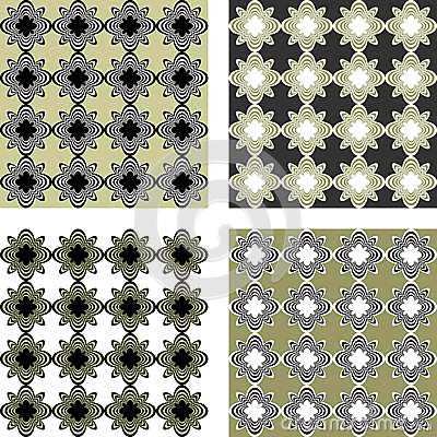 Design seamless pattern set