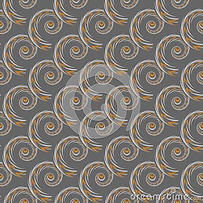 Design seamless spiral pattern