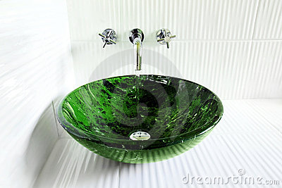 Design sink with running water