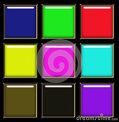 Design square web buttons