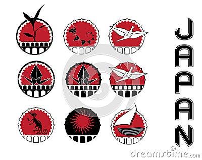Design symbols of japan culture