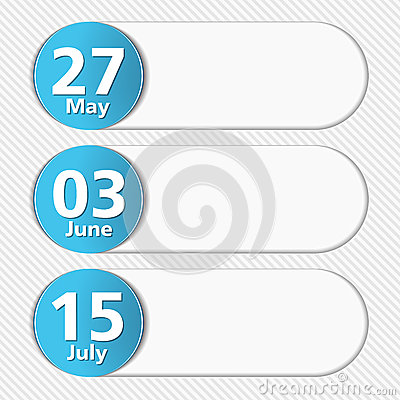 Design Template with Dates