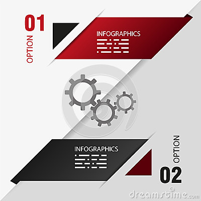 Design template of two options. info graphic
