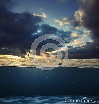 Design template with underwater