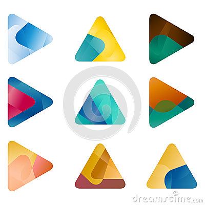 Design triangle, arrow vector logo template Vector Illustration