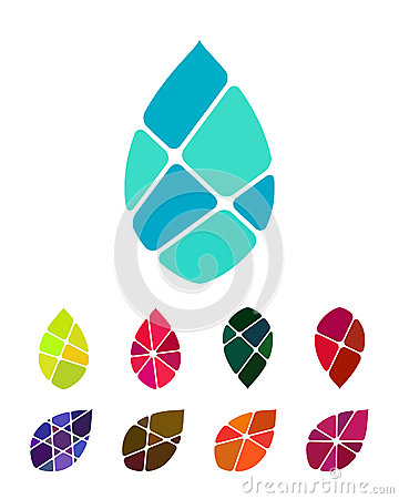 Design vector drop water or leaf logo element