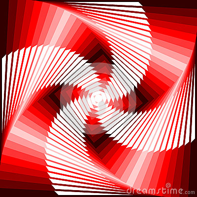 Design vortex movement tetragon background