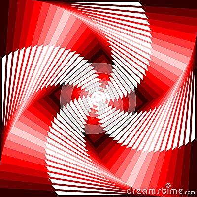 Design vortex movement tetragon background