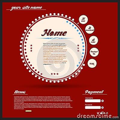 Design web do vintage