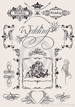 Design  Wedding Page Decoration.