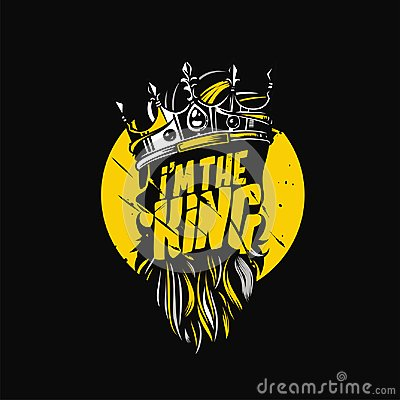 Free Design With Hipster King Crown Vector Illustration Royalty Free Stock Images - 110368449