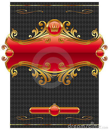 Free Design With Ornate Golden Frame Royalty Free Stock Photo - 10300655