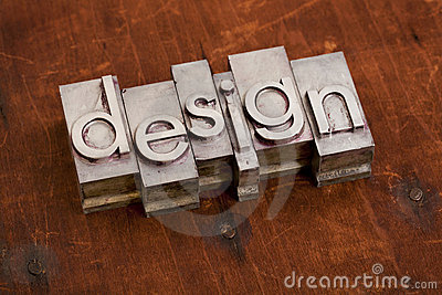 Design word in metal and wood