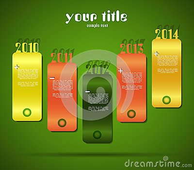 Design with year banners