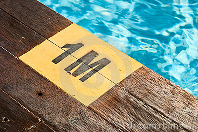 Designation of the swimming pool depth