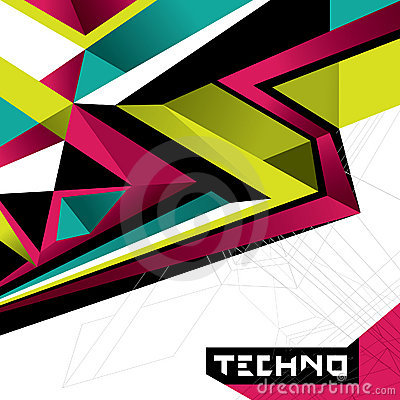 Designed abstract techno background.