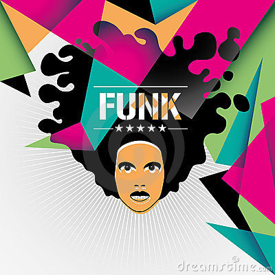 Designed funk background.
