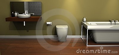 Designer bathroom suite