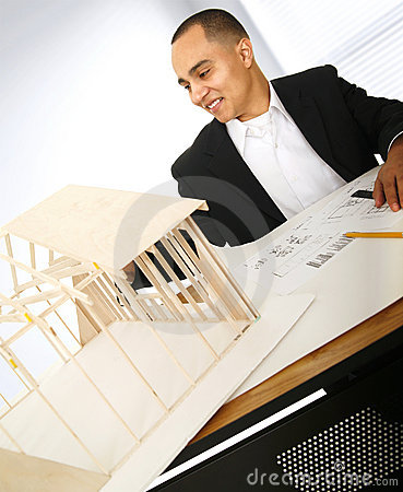 Designer Building A House Model