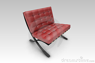 Designer Chair Red