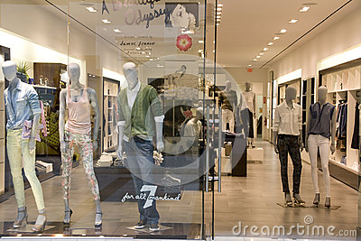 clothing fashion store interiors Editorial Photography