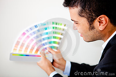 Designer with a color palette