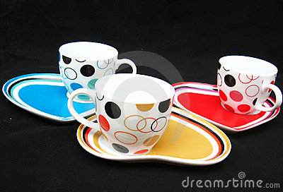 Designer Cups and Saucers