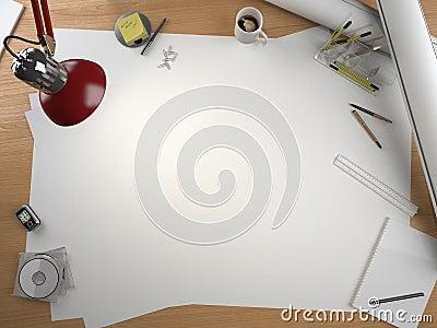Designer drawing table